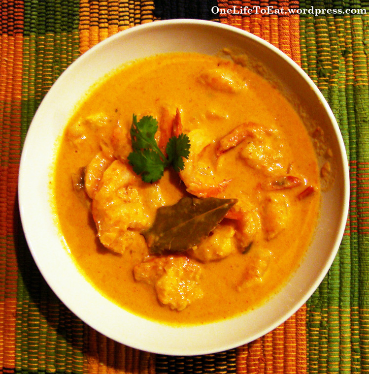 Nightshade Free Coconut Curry Shrimp