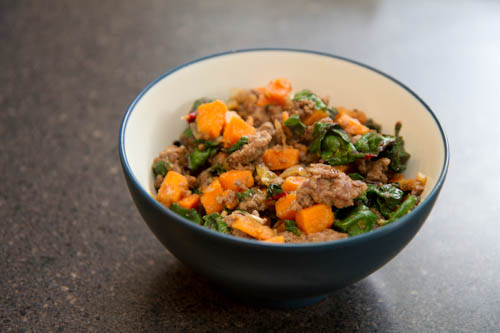 Ground Beef Hash With Sweet Potatoes Recipe