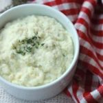Nightshade Free Garlic and Herb Mashed Cauliflower Recipe