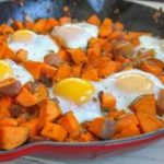 nightshade free sweet potato turkey hash with eggs recipe