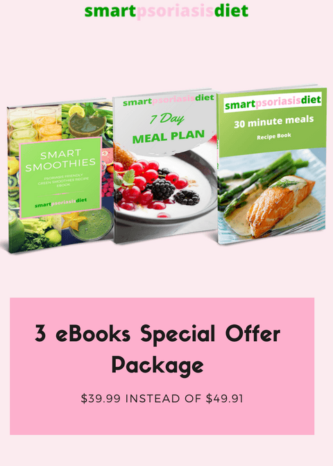 Smart psoriasis diet 3 ebooks offer